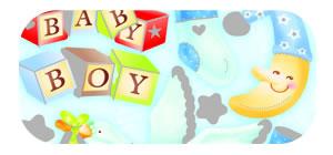 Baby Boy Sticker Sheet