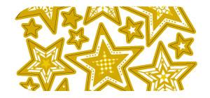 Gold Stars Sticker Sheet