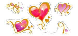 Loving Hearts Sticker Sheet