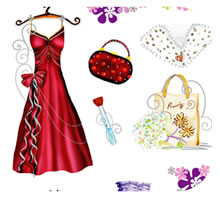 Ball Dress Sticker Sheet for Decorating Pages