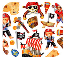 Pirates Sticker Sheet for Decorating Pages